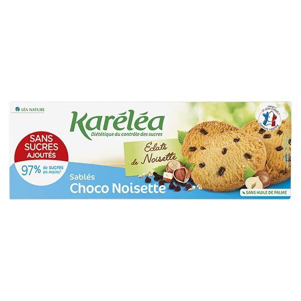 Karéléa Biscuits Sans Sucres Ajoutés Sablés Chocolat Noisette 150g