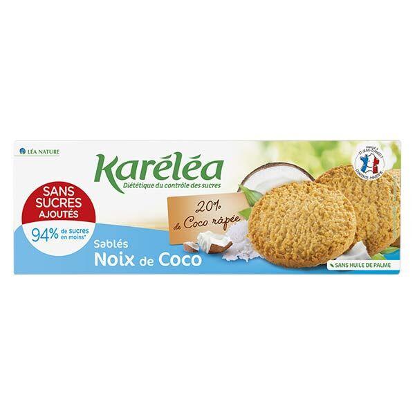 Karéléa Biscuits Sans Sucres Ajoutés Sablés Noix de Coco 150g