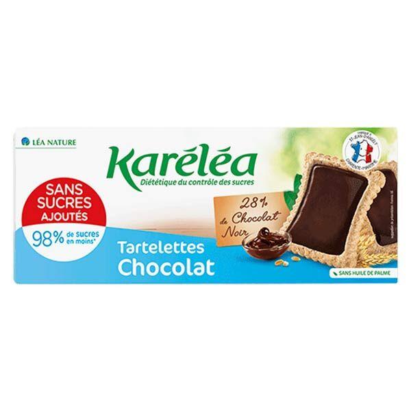 Karéléa Biscuits Sans Sucres Ajoutés Tartelettes Chocolat Noir 130g