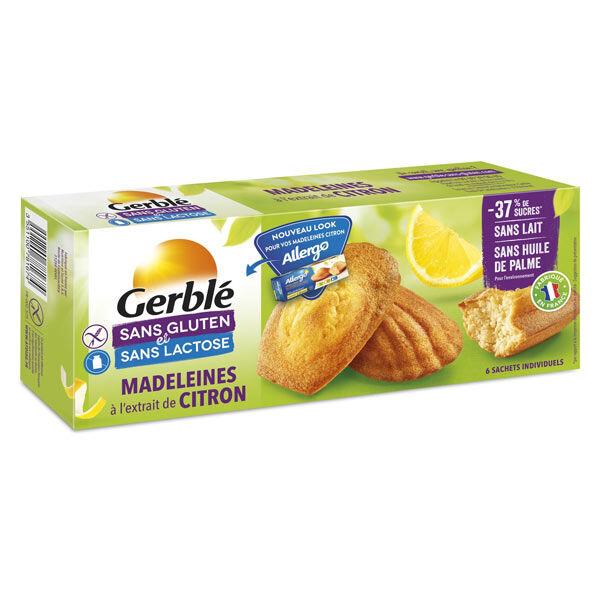 Gerblé Sans Gluten & Sans Lactose Madeleines Citron 180g