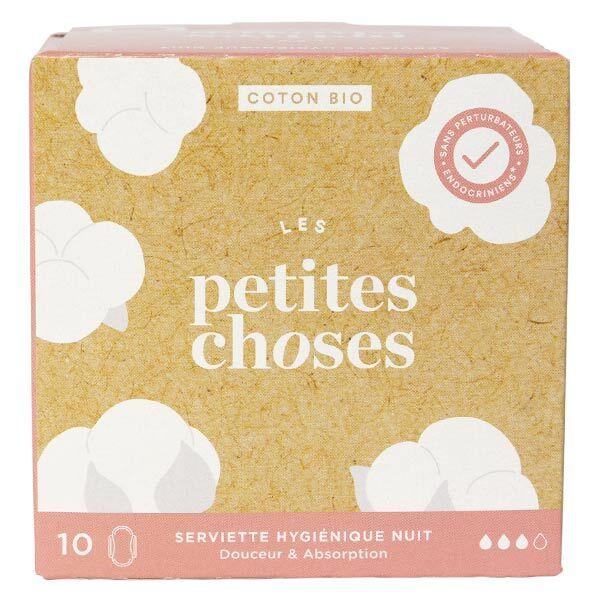 Les Petites Choses Serviettes Hygiéniques Nuit Coton Bio 10 unités