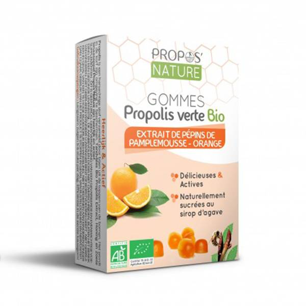 Propos'Nature Propos' Nature Apithérapie Gomme de Propolis Pépins de Pamplemousse Orange Bio 45g