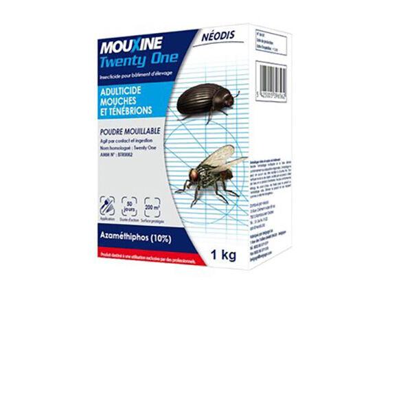 Huvepharma Mouxine Twenty One Poudre Mouillable Insecticide Adulticide Mouche Tenebrion boite 1,8kg