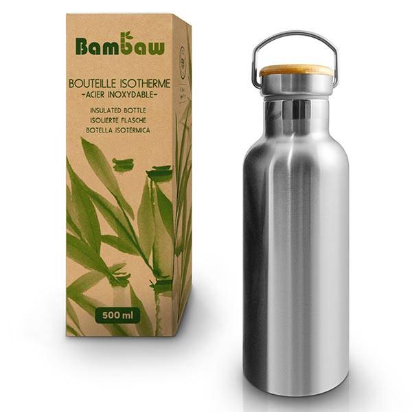 Bambaw Nomade Bouteille Isotherme en Inox 500ml