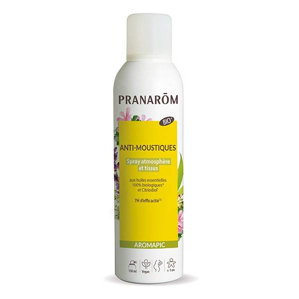 Pranarom Aromapic Spray Anti-Moustiques Atmosphère et Tissus Bio 150ml