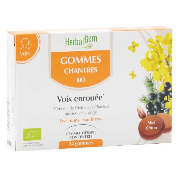 Herbalgem Macérat Concentré Gomme Chantres Bio 24 gommes