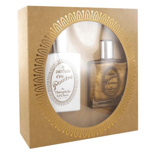 T-LeClerc T.Leclerc Coffret Le Parfum D'été Poudré 50ml + L'huile Poudrée Scintillante 50ml