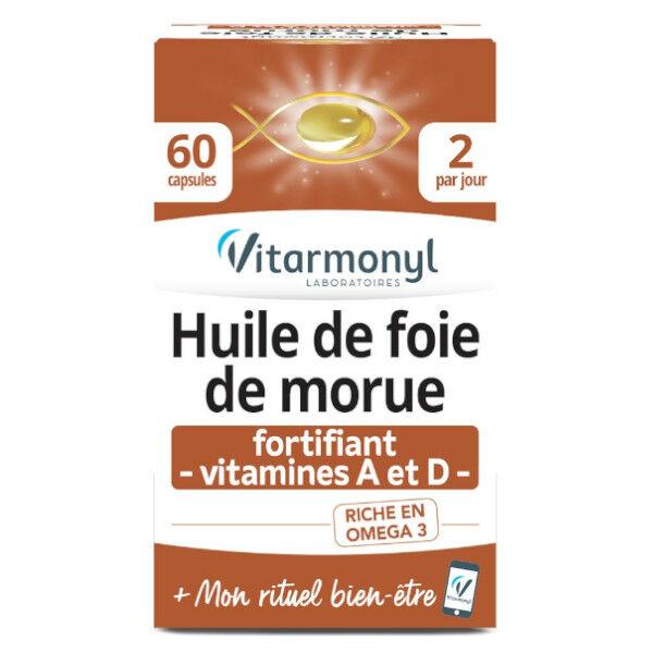 Vitarmonyl Actifs Naturels Huile de Foie de Morue 60 capsules
