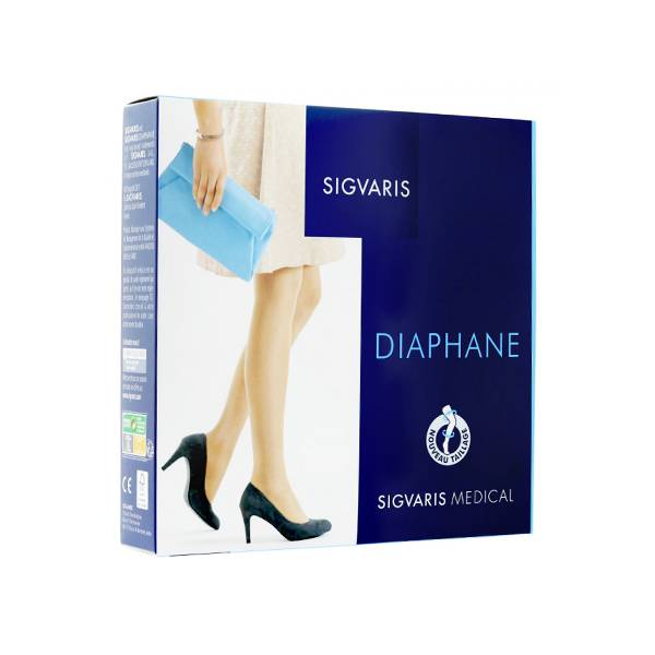Sigvaris Essentiel Semi-Transparent Chaussettes Classe 2 Normal Taille L Cannelle