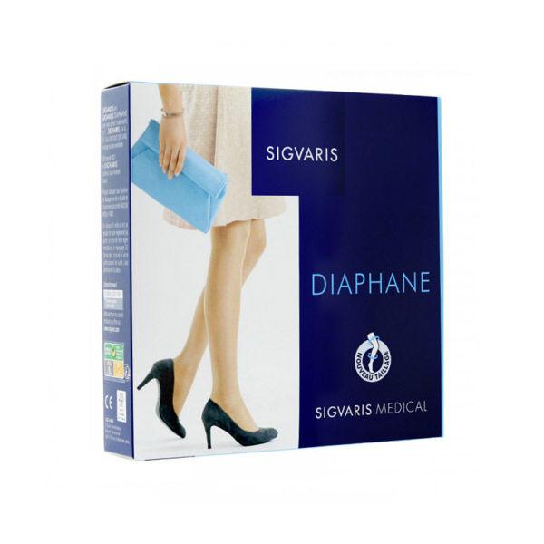 Sigvaris Essentiel Semi-Transparent Collant Classe 2 Long Taille S Cannelle
