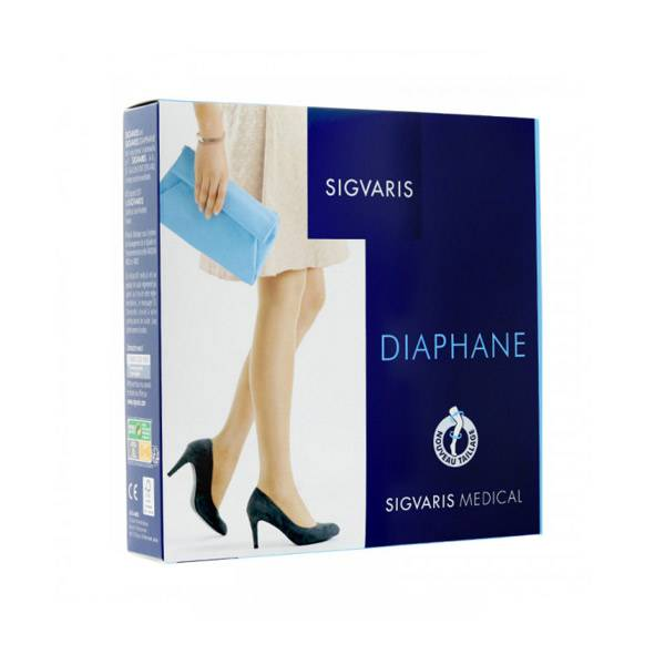 Sigvaris Essentiel Semi-Transparent Collant Classe 2 Normal Taille XXL Cannelle