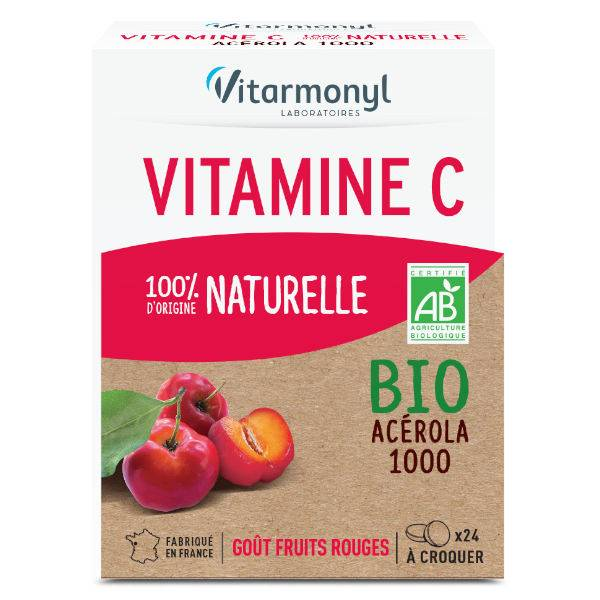 Vitarmonyl Vitamine C Naturelle Bio 24 comprimés à croquer