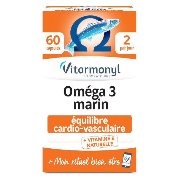 Vitarmonyl Actifs Naturels Oméga 3 Marin 60 capsules