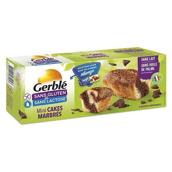 Gerblé Sans Gluten & Sans Lactose Mini Cakes Marbrés 200g