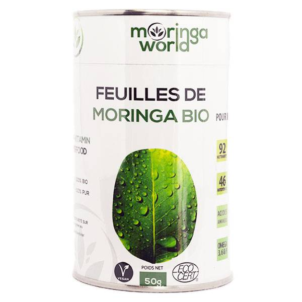 Grow Green Infusion Feuilles de Moringa Bio 50g