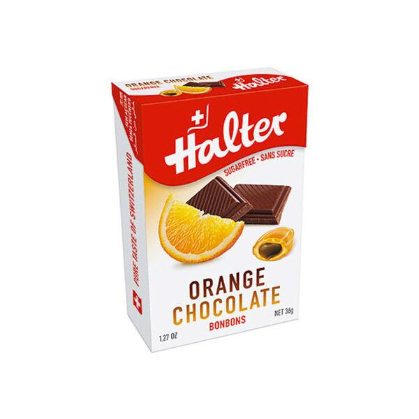 Halter Bonbon Suisse sans Sucre Orange Chocolat 36g