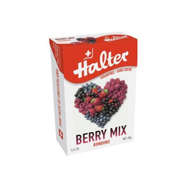 Halter Bonbon Suisse Sans Sucre Fruits Rouges 40g