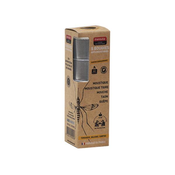 Manouka Bougies Anti-Moustiques Mouches et Guêpes 5 unités