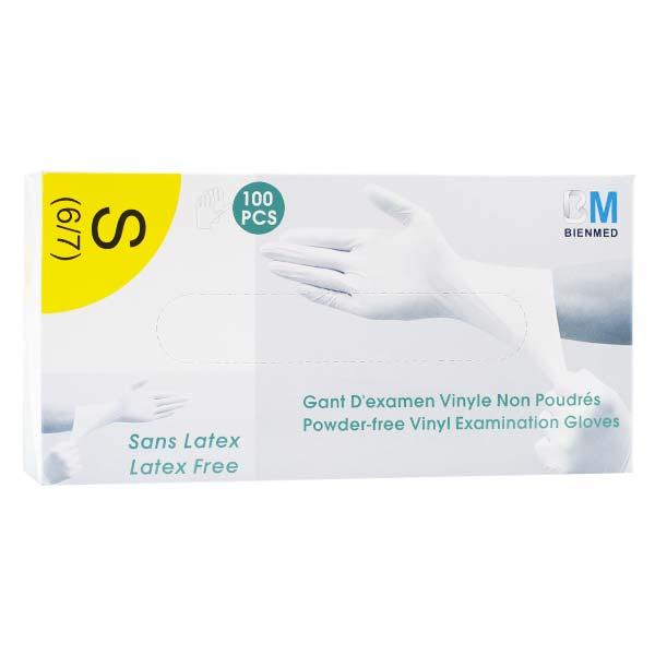 Lysse Matériel Médical Gant d'Examen Vinyle Non Poudrés Sans Latex Taille S 100 Pièces
