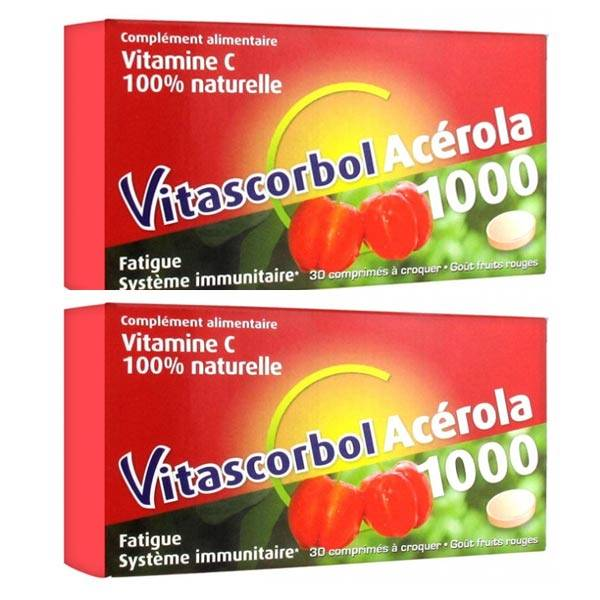 Cooper Vitascorbol Acérola 1000 Lot de 2 x 30 comprimés