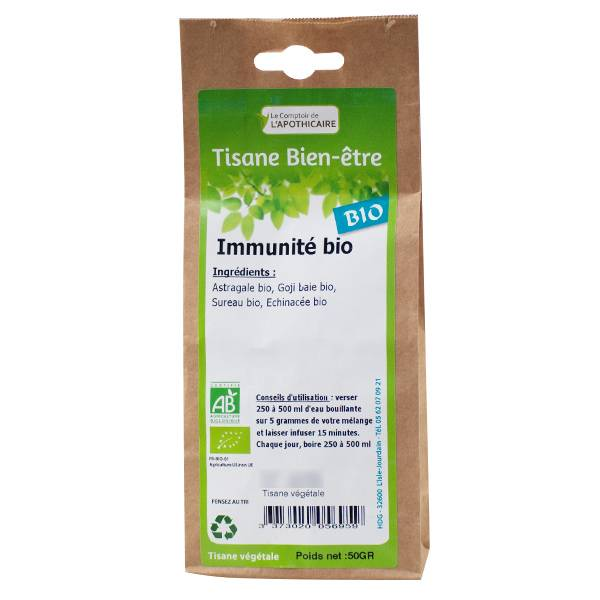 Comptoir de l Apothicaire Comptoir de l'Apothicaire Tisane Immunité Bio 50g