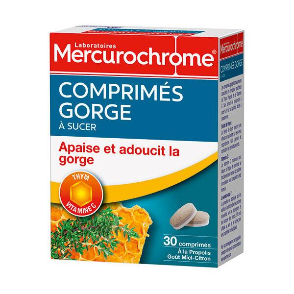 Mercurochrome Comprimés Gorge à Sucer Miel Citron 30 comprimés