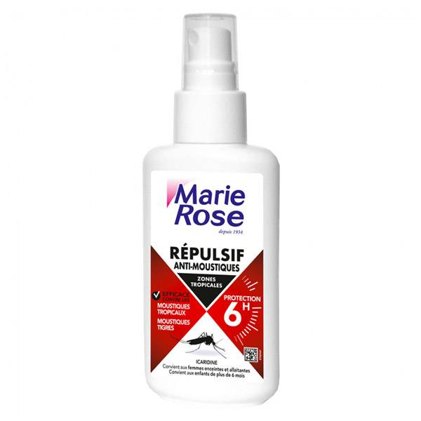Marie Rose Répulsif Anti-Moustiques Zones Tropicales 100ml