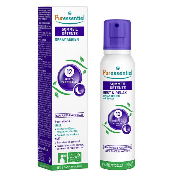 Puressentiel Sommeil & Détente Spray Aérien aux 12 Huiles Essentielles 200ml