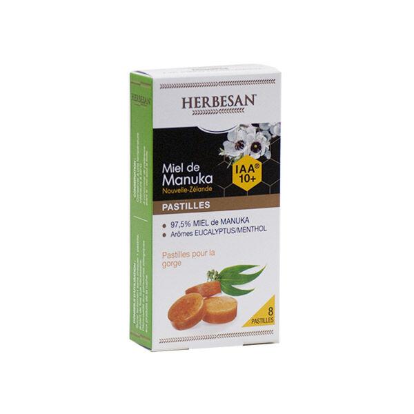 Herbesan Miel de Manuka IAA10+ Pastilles Gout Eucalyptus 20g