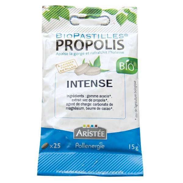Aristée Biopastilles Propolis Menthe Poivrée Bio 25 Pastilles