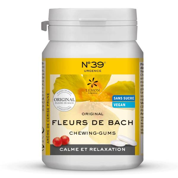 Lemon Pharma Fleurs de Bach Chewing Gums Urgences n°39