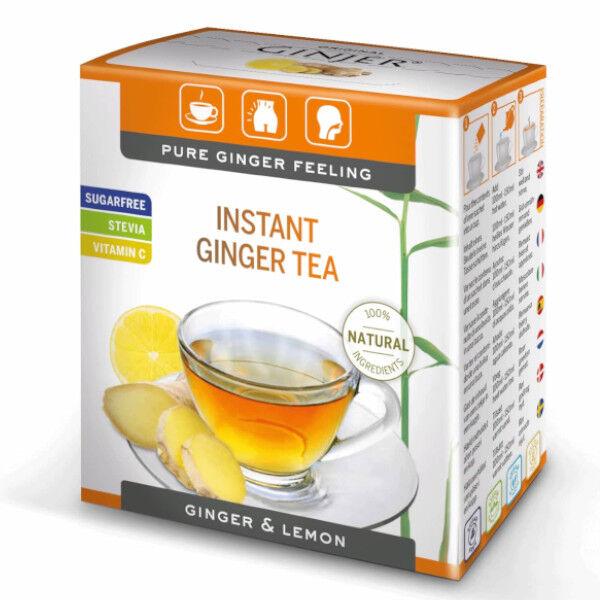 Lemon Pharma Instant Ginger Tea Goût Citron 10 sachets