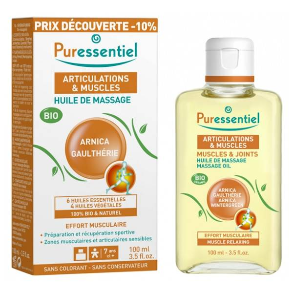 Puressentiel Articulations et Muscles Huile de Massage Bio Effort Musculaire Promo 100ml