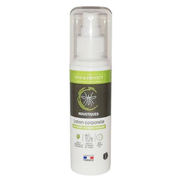 Stop & Protect Lotion Corporelle Moustiques Actifs d'Origine Naturelle 100ml