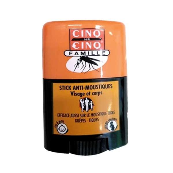 Cinq sur Cinq Stick Famille Anti-Moustiques Visage et Corps 20ml