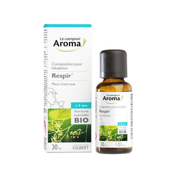 Le Comptoir Aroma Respir Composition pour Inhalation Maux Hivernaux 30ml