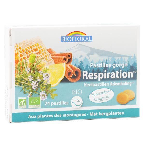 Biofloral Respiration Pastilles Gorge Bio 24 unités