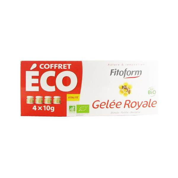 Fitoform Gelée Royale Bio Lot de 4 x 10g