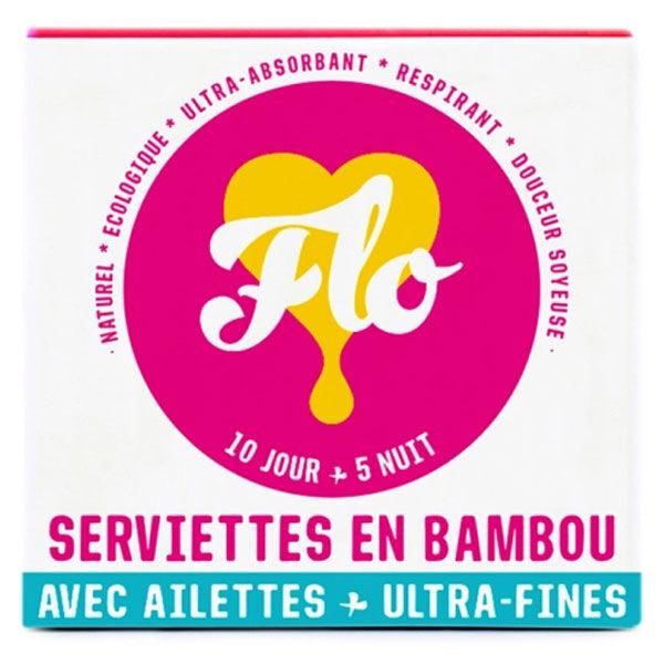 Flo Serviette Hygiénique Bambou Ultra-Fine 15 unités