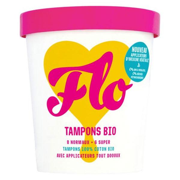 Flo Tampon Coton Bio avec Applicateur 14 unités