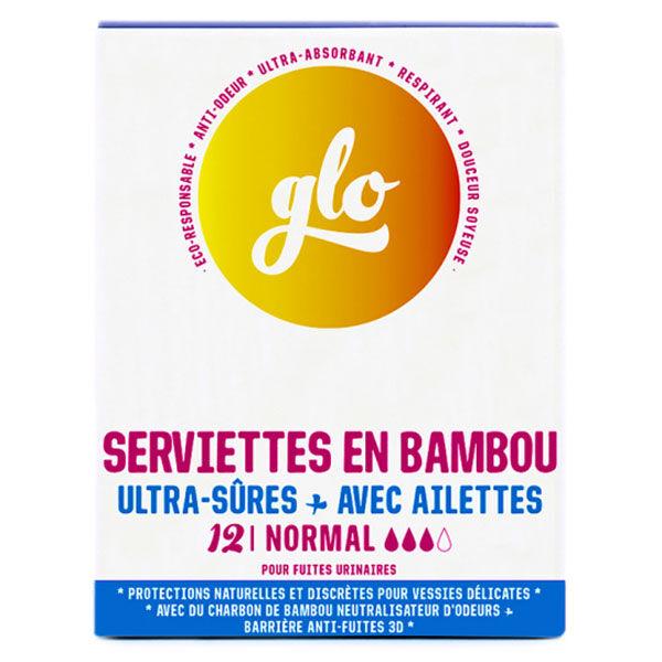 Glo by Flo Serviette Anti-Fuites Bambou Normal 12 unités