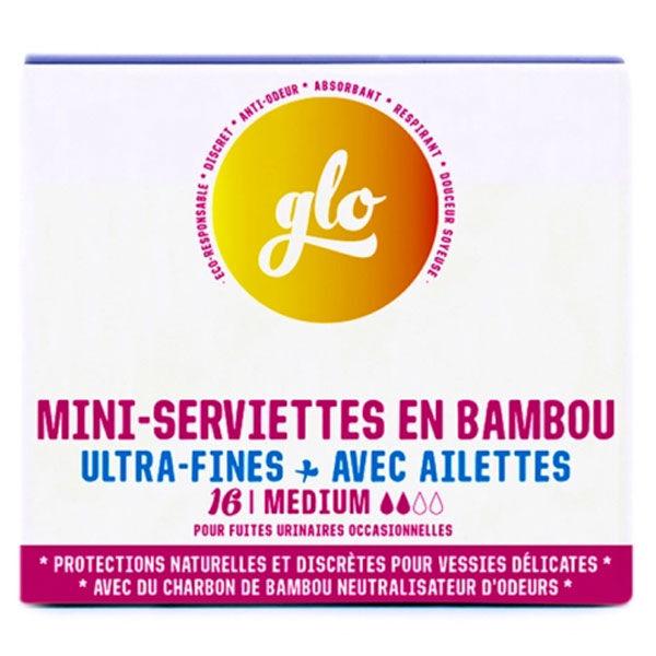Glo by Flo Serviette Anti-Fuites Bambou Mini 16 unités