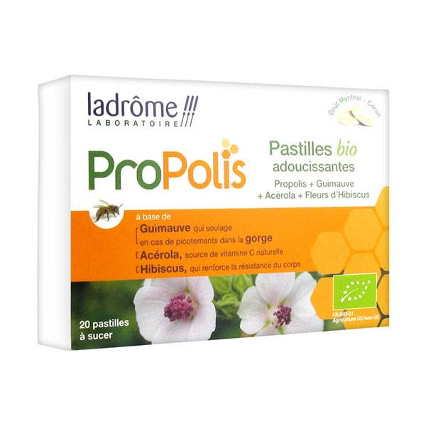 Ladrome Propolis Pastilles Bio Adoucissantes 20 pastilles
