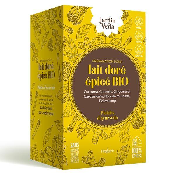 Jardin Veda Plaisirs d'Ayurveda Lait Doré Épicé Bio 20 infusettes