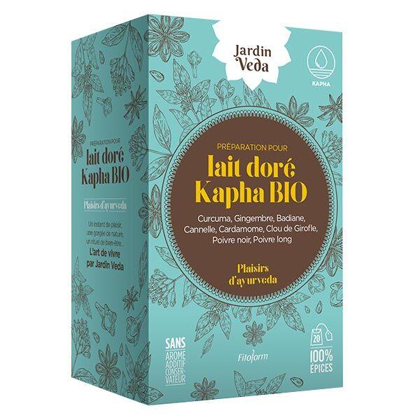 Jardin Veda Plaisirs d'Ayurveda Lait Doré Kapha Bio 20 infusettes