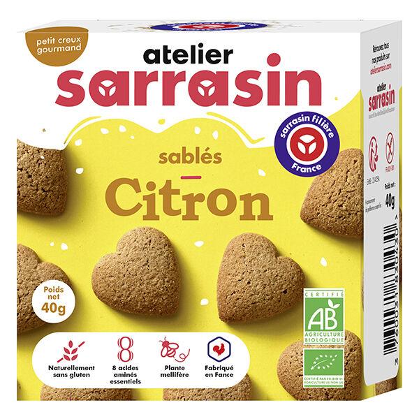 Atelier Sarrasin Sablés Citron Bio Sans Gluten 40g
