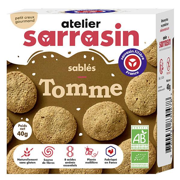 Atelier Sarrasin Sablés à la Tomme Bio Sans Gluten 40g