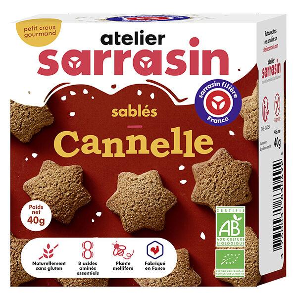 Atelier Sarrasin Sablés Cannelle Bio Sans Gluten 40g