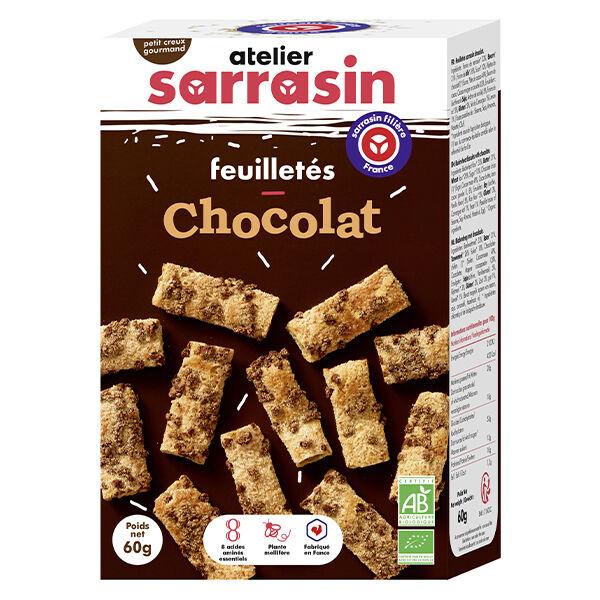 Atelier Sarrasin Feuilletés Chocolat Bio 60g