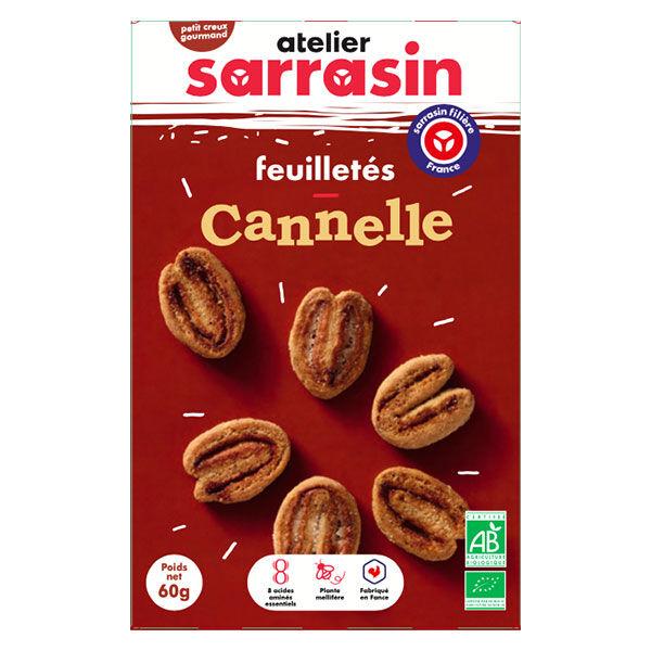 Atelier Sarrasin Feuilletés Cannelle Bio 60g